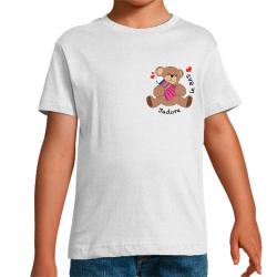 t-shirt dessin ourson j'adore le bad