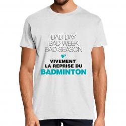 t-shirt humour badminton