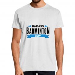 t-shirt badass badminton boy
