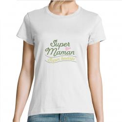 T-shirt Super maman super...